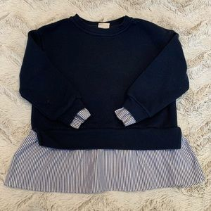 Zara Kids Pullover Sweatshirt Sweater Shirt Navy 6